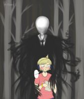 Pewdie and Slenderman by SillyRu