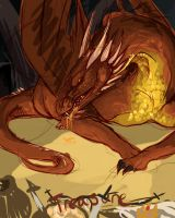 Smaug sketch by Winterfaux