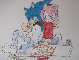 .:SONAMY PiZZa Time:. by Lightning97