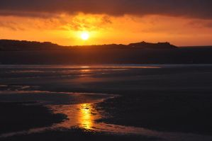Sunset- St Ives from Hayle Towans- Cornwall by dartmoor4