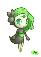 Young Meloetta by MellowMeloetta