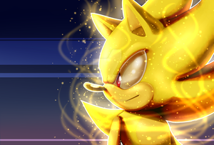 Super-Sonic The Hedgehog. by 5catsonebowl