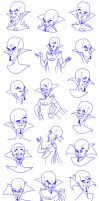 Megamind Sketchdump by PadawanLinea