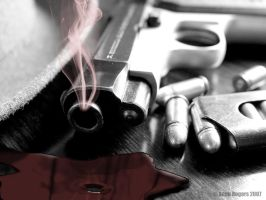 Pistol, Bullets and Smoke 2 by rogerss1