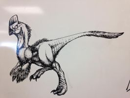 Whiteboard dinosaur by Touque