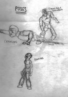 Zombie Pose Drawings by EclecticWhiteRaven