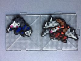 #529-#530 Drilbur and Excadrill Perlers
