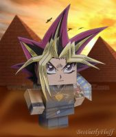 Cube paper craft Yami Yuugi by BrotherlyFluff
