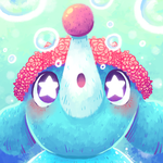 Commission: Popplio avatar by Agui-chan