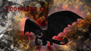 Fiery Toothless : Widescreen by applejackles