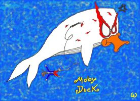 The Angry Duck      Moby Duck by wabodisnay