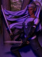 Female Half-Drow 01 by Riveda1972