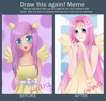 Draw This Again Meme! Flutterbutts by jemaica