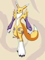 Renamon by whiteguardian