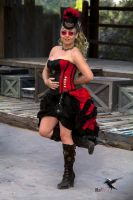 Steampunk Dancer live on the Bazaar Stage by PhotosbyRaVen