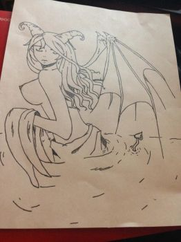 Request #2: Succubi in Water by Kalikanna