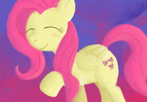 Fluttershy Speedpaint-request- by Enma-Darei