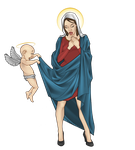 Virgin Mary by Orr-Malus