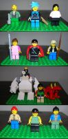 LEGO FF7 Characters by Chimera245