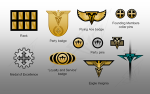 Imperium Medals and Pins by sauronmrc