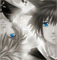 Roxas and Sora Together by Guardians-of-Hearts
