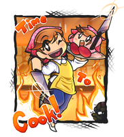 Cooking Mama and Kirby by GeekyKitten64