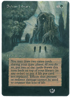 Altered card - Sylvan Library by JohannesVIII