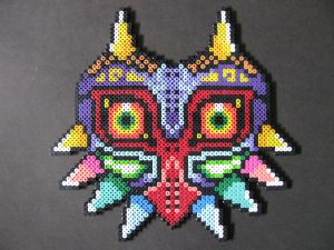 Perler Bead Majora's Mask by EP-380