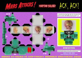 Mars Attacks - Martian Cubee by mikedaws