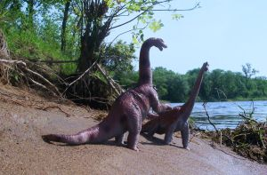 Brontos in disagreement by brys-foto-fantasy