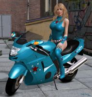 Lady Liberty and her Motorcycle by ladytania