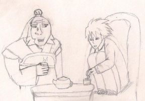 Sharing Tea by LotusTwister