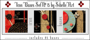 Icon bases Set No. 15 by Sibelle