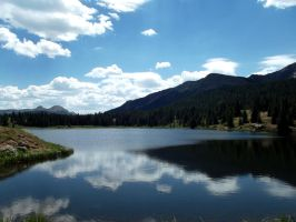 The Sky in the Lake in the Mountains of Colorado by tothethirdbar