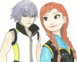 Riku And Anna by Draculsondevil