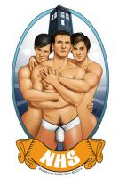 Sexy Male Pinup Art - The NHS Team (The Doctors) by eddiechin