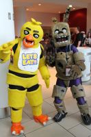 Springtrap and Chica! by TheDireBarbwire