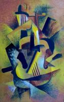 Still Life with Cubist Guitar by Valnor