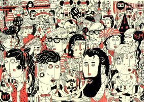 Waldo at the hipster party by Haluzz