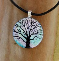 Winter Tree of Life Fusedglass by FusedElegance