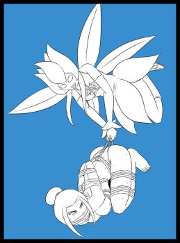 Stream Lineart - Chlorie Carries Azula by Humite-Ubie