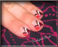 Purple and Pink French Tips by KookylmhNails