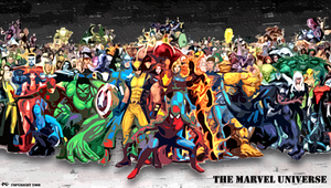 The Marvel Universe BG by FireCouch1