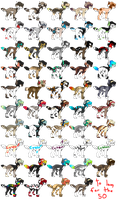 49 Adopts Batch 16 .:OPEN:. 40 points or more by Mireille-Adopts