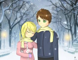 Requested - Couple in the snow. by Panatrix