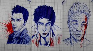 Teen Wolf - Ballpoint pen doodles by Kumagorochan