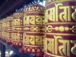 Prayer wheel. by Pramin