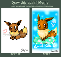 comparison: Eevee deviantID by Eeveelutions95