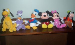 Mickey and Friends Plush by ChipmunkRaccoon2