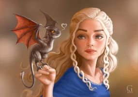 Daenerys and Drogon by GloriaPM